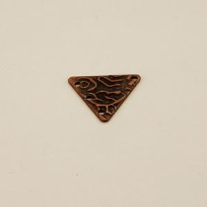 Componente ottone triangolare - FF212 - Rame antico