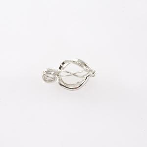 Pendente ovale apribile - FF249 - Rodio