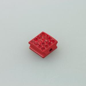 Quadratino strass - K1060 - Rosso
