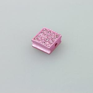 Quadratino strass - K1060 - Rosa