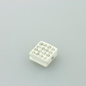 Quadratino strass - K1060 - Bianco