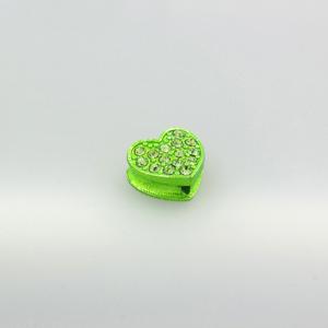Cuore strass - K1061 - Verde