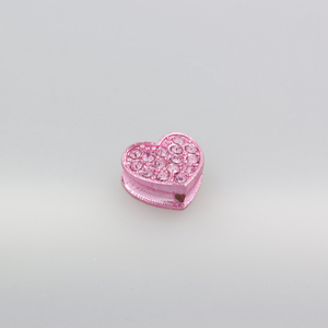 Cuore strass - K1061 - Rosa