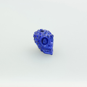 Teschio strass - K1062 - Blu