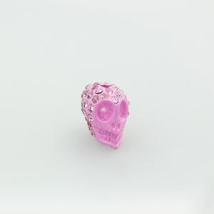 Teschio strass - K1062 - Rosa