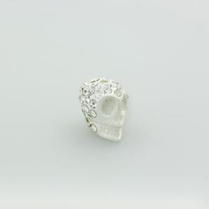 Teschio strass - K1062 - Bianco
