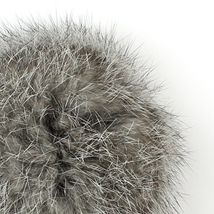 Pompon in lapin - K1190-65 - 100 - Natural