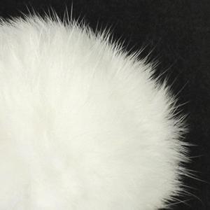 Pompon in lapin - K1190-65 - 99 - Bianco