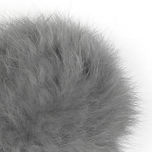 Pompon in lapin - K1191-65 - 111 - Grigio