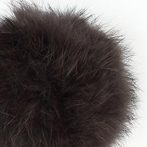 Pompon in lapin - K1191-65 - 114 - Marrone Scuro