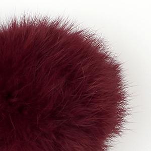 Pompon in lapin - K1191-65 - 92 - Bordeaux