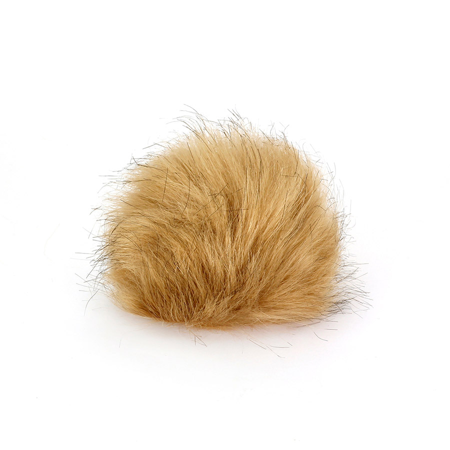 Pompon in pelliccia ecologica - imitazione volpe - K1248-10 - Beige
