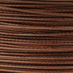 Rocchetto di filo in acciaio colorato - K207 - Mogano
