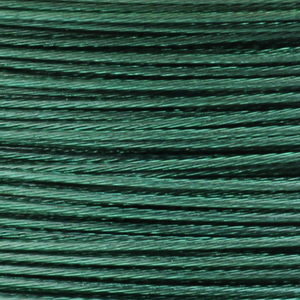 Rocchetto di filo in acciaio colorato - K207 - Verde smeraldo