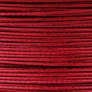 Rocchetto di filo in acciaio colorato - K207 - Rosso