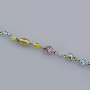 Rocchetto catena multicolor - K889 - Oro